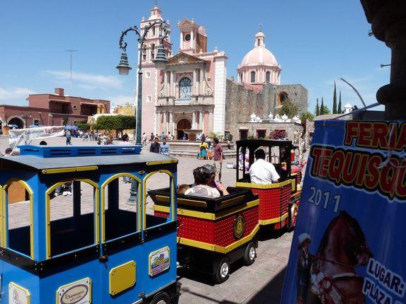 Tequisquiapan, the Parroquia and Tramvia