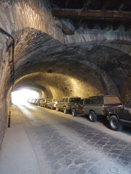 tunel for parking in Guanajuato