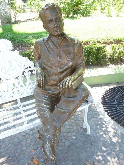 Juan Rulfo statue in Comala