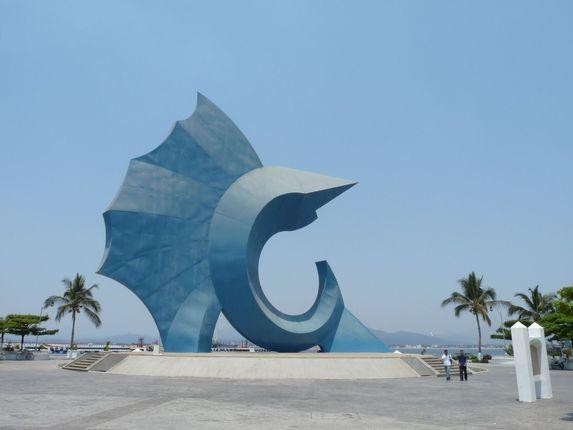 Pez Vela Statue in Manzanillo