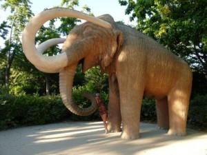 a mammoth statue in Ciudatella