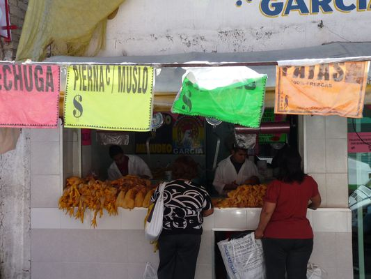 a chicken shop in Mexico