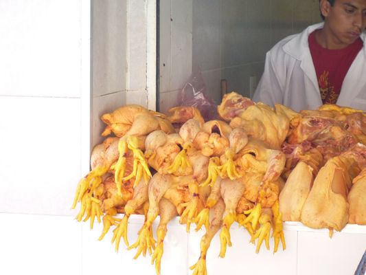 a chicken seller at the street, Mexico City, Mexico