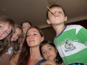 with children in kindergarten in Snina