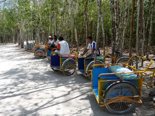 tricycles in Coba