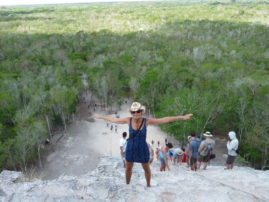 view of the jungle from the top of Nohoch Mul in Coba