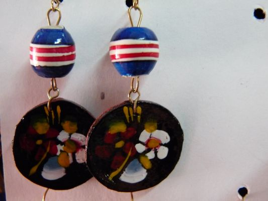hand-made earrings, el Parral