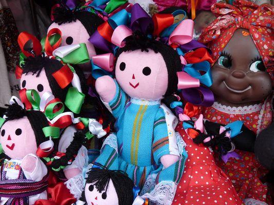 textil dolls, el Parral, Puebla, Mexico
