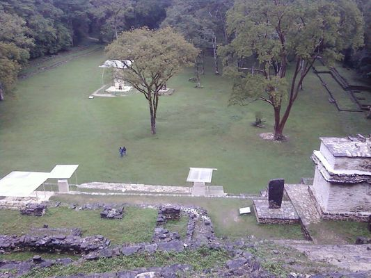 Bonampak - the view from the up