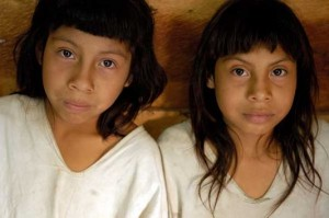 Lacandon Maya children