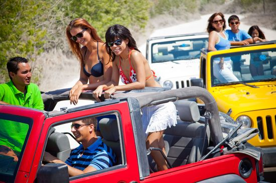 Xpu ha beach jeeps with Explora Caribe tours