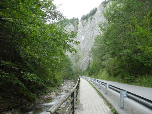 a road next to Dunajec from Lesnica to Szczawnica