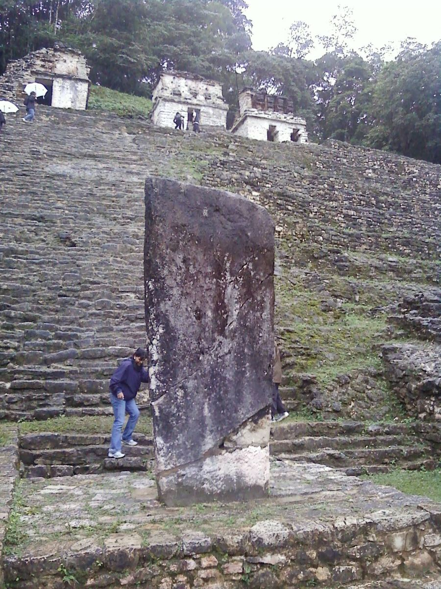 a stela at Bonampak