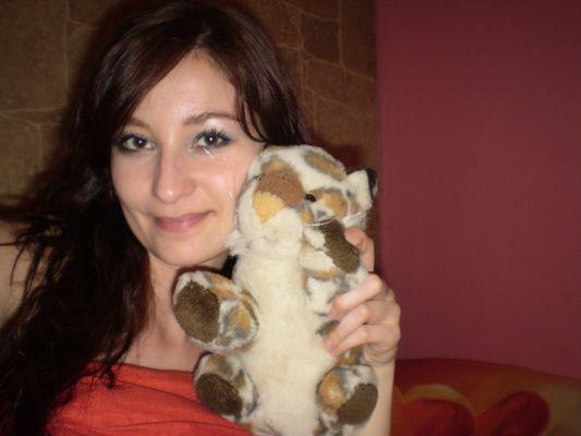 crazy sexy fun traveler with teddy tiger