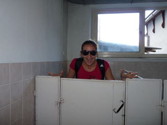 dirty toilets in Uzgorod market