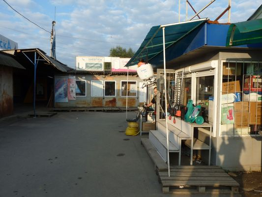 empty Uzgorod market