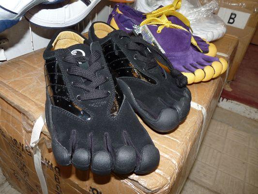 five toe shoes in Uzgorod market