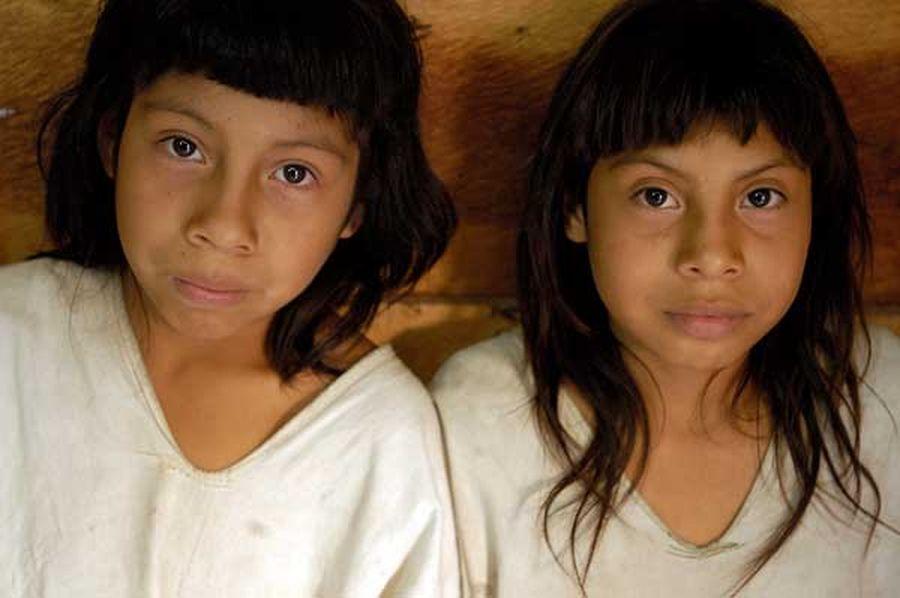 Lacandon Maya children