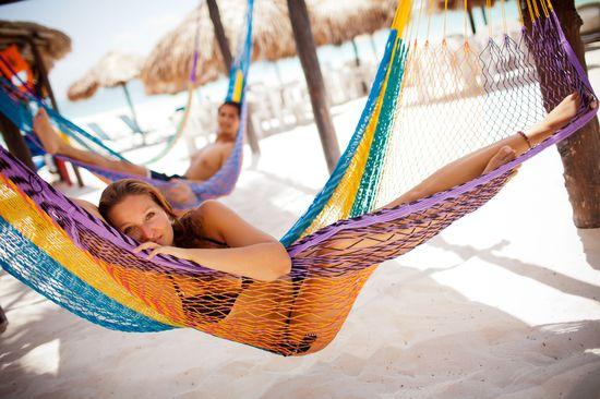 relajando en la playa Xpu ha