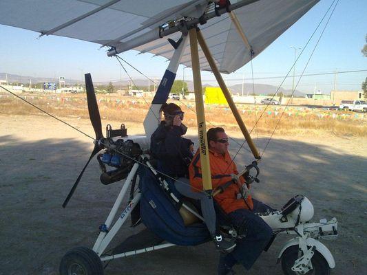 ultralight flight landing in San Jose Iturbide in Mexico