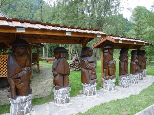 wooden zodiac signs of Gorals in Lesnica, Pieniny, Slovakia