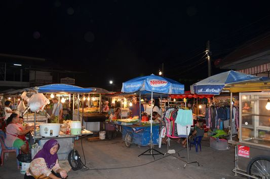 food market in Thongsala on Koh Phangan island