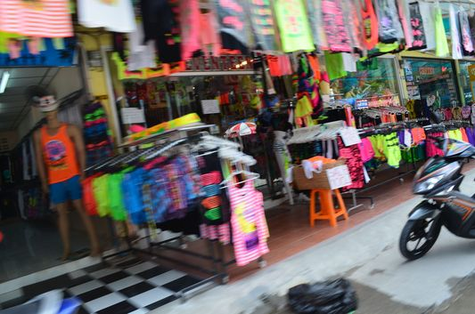 shopping in Haad Rin on Koh Phangan
