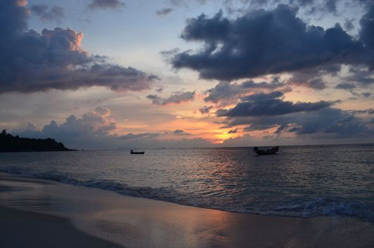 sunset at Haad Yao beach on Ko Phangan