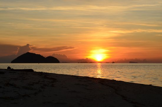 sunset at Ko Phangan island in Gulf of Thailand