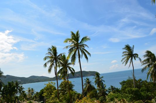 view of the sea from Thongsala to Haad Rin on Koh Phangan
