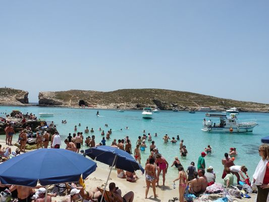 Blue Lagoon Bay in Comino, Malta