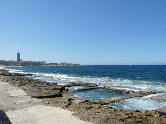 Malta rocky beach