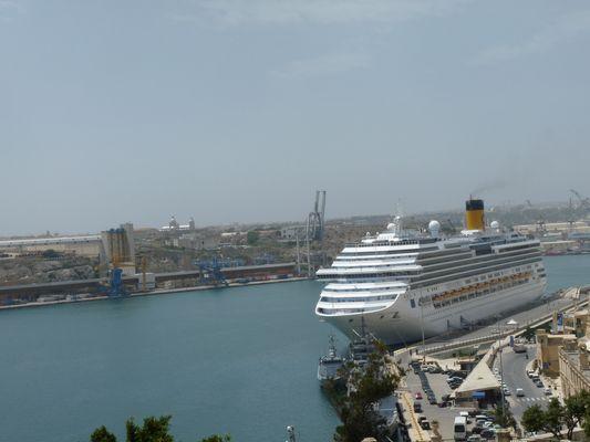 Valletta port in Malta