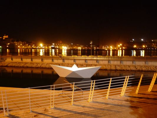 Valletta waterfront at night, Malta