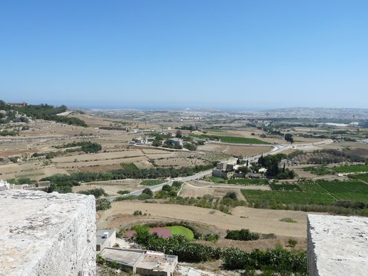 bastions of Mdina with the viewpoint