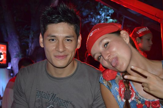 crazy sexy fun traveler having fun with Hideo Muraoka at Captain Morgan party in Manila