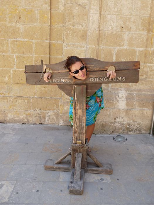 having my head cut off in Mdina, Malta