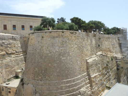 old Valletta walls in Malta