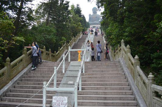 the world's biggest Buddha on Lantau island, Hong Kong