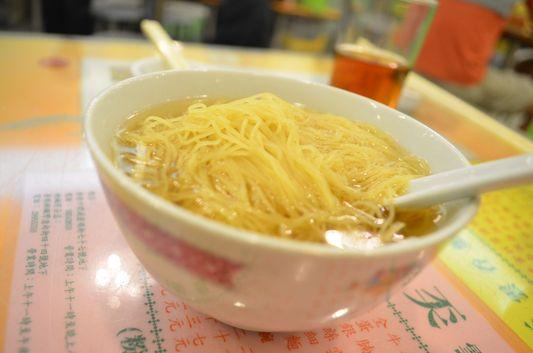 traditional noodles in Hong Kong, China