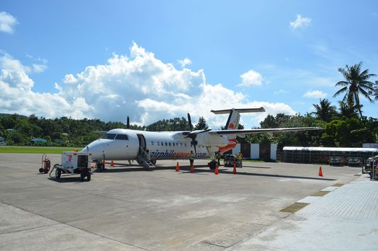 Q300 airplane of Air Phil Express flight 2P 259 from Cebu to Caticlan - Boracay
