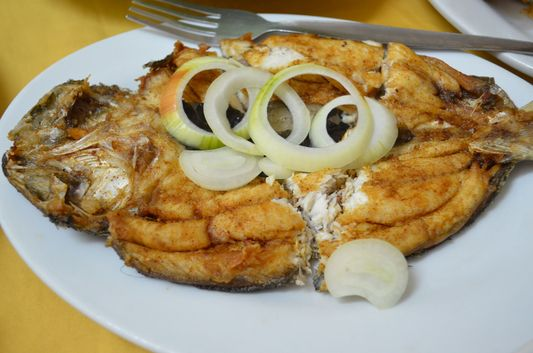 boneless bangus chicken for dinner in  the President Hotel, Dagupan, Pangasinan, Philippines;