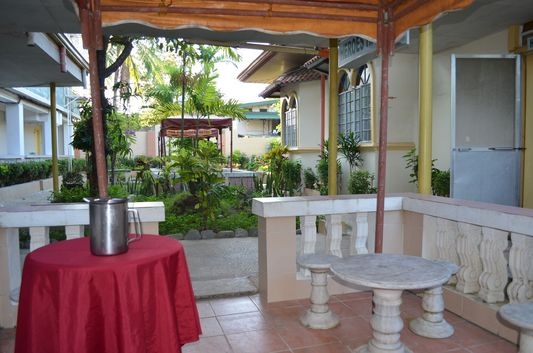 breakfast place in the garden in President Hotel, Dagupan, Pangasinan, Philippines