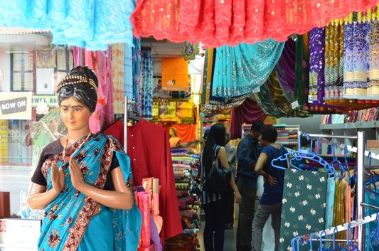 colourful Little India shops in Singapore