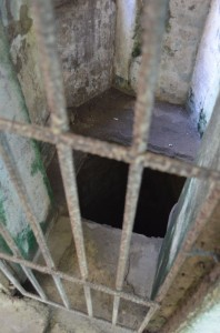 entrance to dungeon in Plaza Cuartel in Puerto Princesa, Palawan