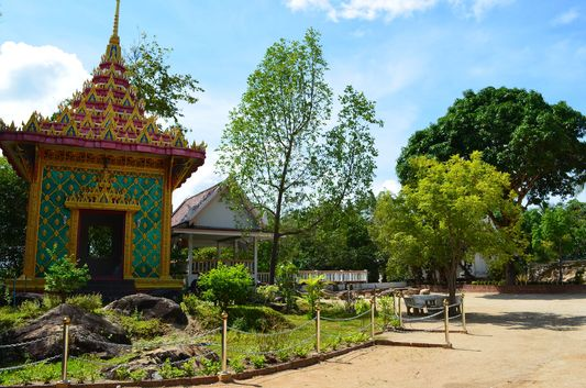 entrance to the first temple Wat Phu Khao Noi on Koh Phangan island in Thailand