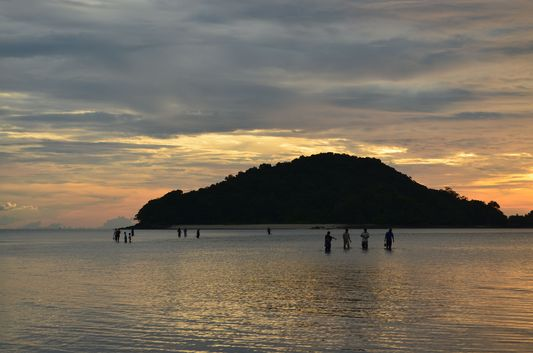 island in front of Cenang beach in Langkawi in Malaysia