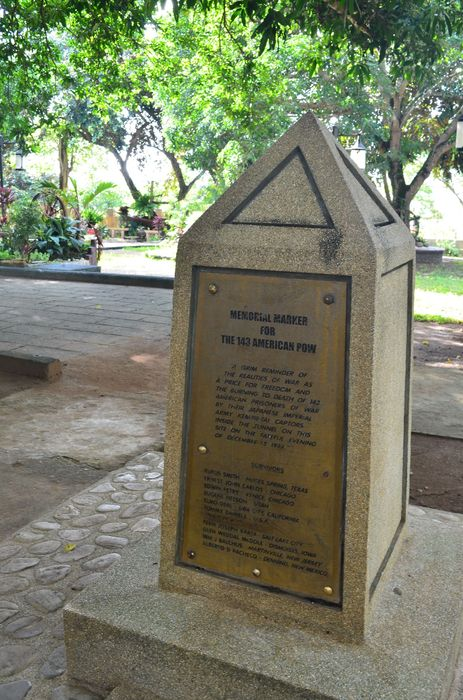 memorial built by Don Schloat in Plaza Cuartel, Puerto Princesa, Palawan