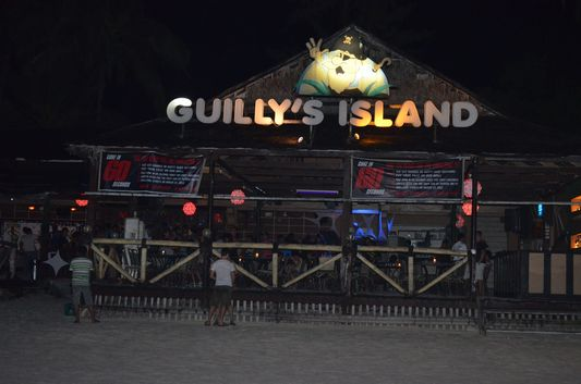 party in Guilly's Island bar in Station 1 on Boracay island