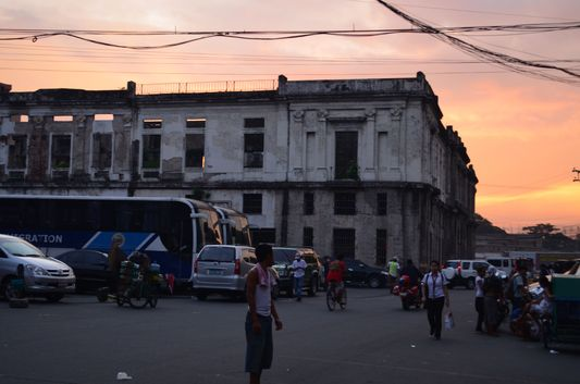 sunset in Manila city in Philippines